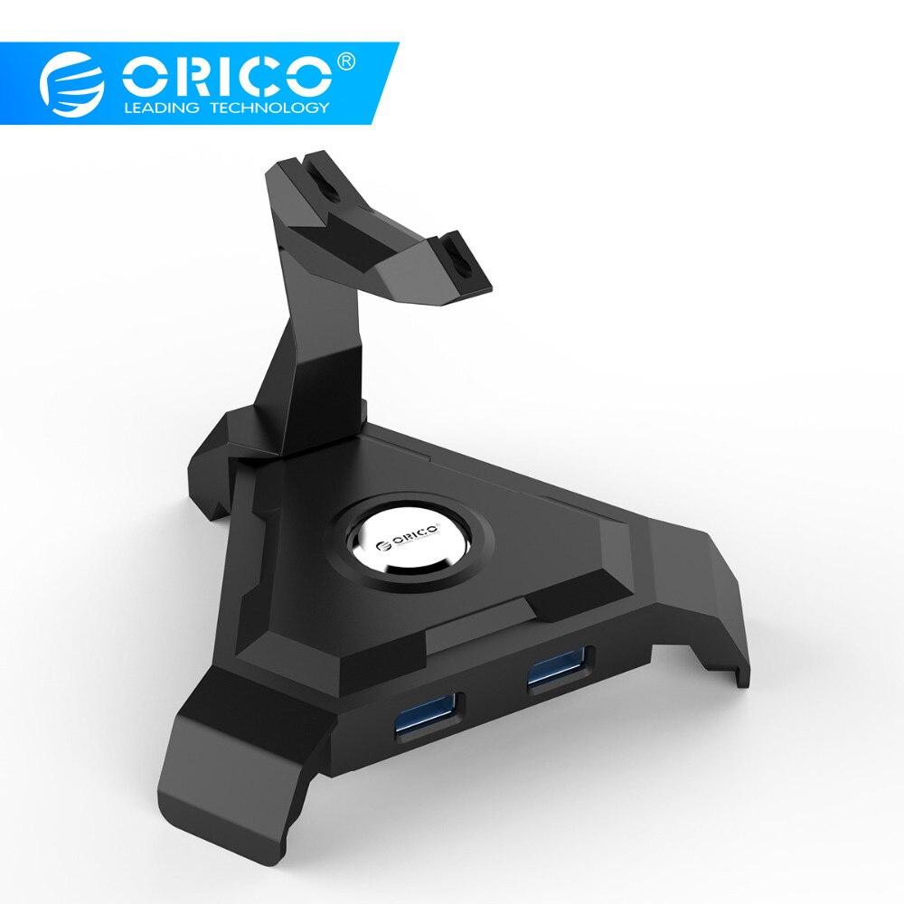 ORICO LH4-U3 4 Ports USB3.0 HUB 5 Gbps 1 m Daten Kabel mit Maus Kabel Management und 4 Port USB2.0 HUB (Ohne Netzteil)