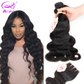 Malaysian Virgin Hair With Closure 3 Bundles Virgin Human Hair With Closure Rosa Hair Products Malaysian Body Wave With Closure