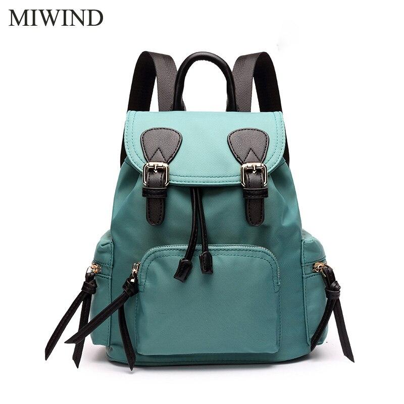 MIWIND Women Backpack Canvas Backpacks Softback Bags Brand Name Bag Casual Fashion Backpacks Girls Backpack