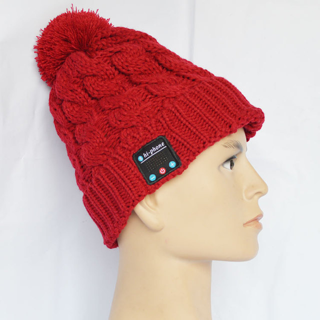 New products 2016 innovative product winter stereo bluetooth hat with headphone.