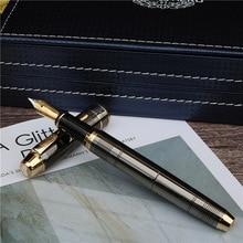 ปากกาแฟชั่นสไตล์ใหม่สีเทาเข้มหมึกปากกาสำนักงานการเรียนรู้Luxuryการเขียนปากกาโลหะ