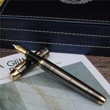Pióro wieczne moda w nowym stylu ciemnoszare pióro atramentowe biuro i nauka luksusowy piszący metalowy długopis