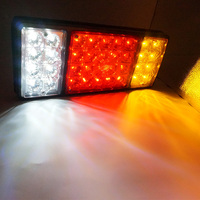 Pair 12V/24 36 LEDs Tail Brake Light Tail Lights Rear Brake Lamp Stop Turn Indicator Truck Trailers Van Reverse Indicator