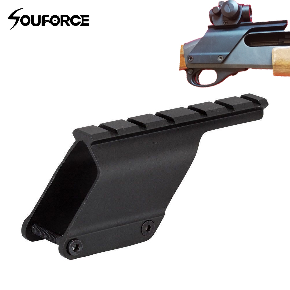 Tactical Quick Release Saddle Mount 20mm Picatinny Rail Gun Accessories For Remington 870 Shotgun Hunting