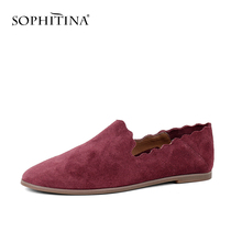 BESCONE New Stylish Shallow Comfortable Women Flats Casual Round Toe Solid Shoes Basic Slip-On 1 cm Low Heel Ladies BY20