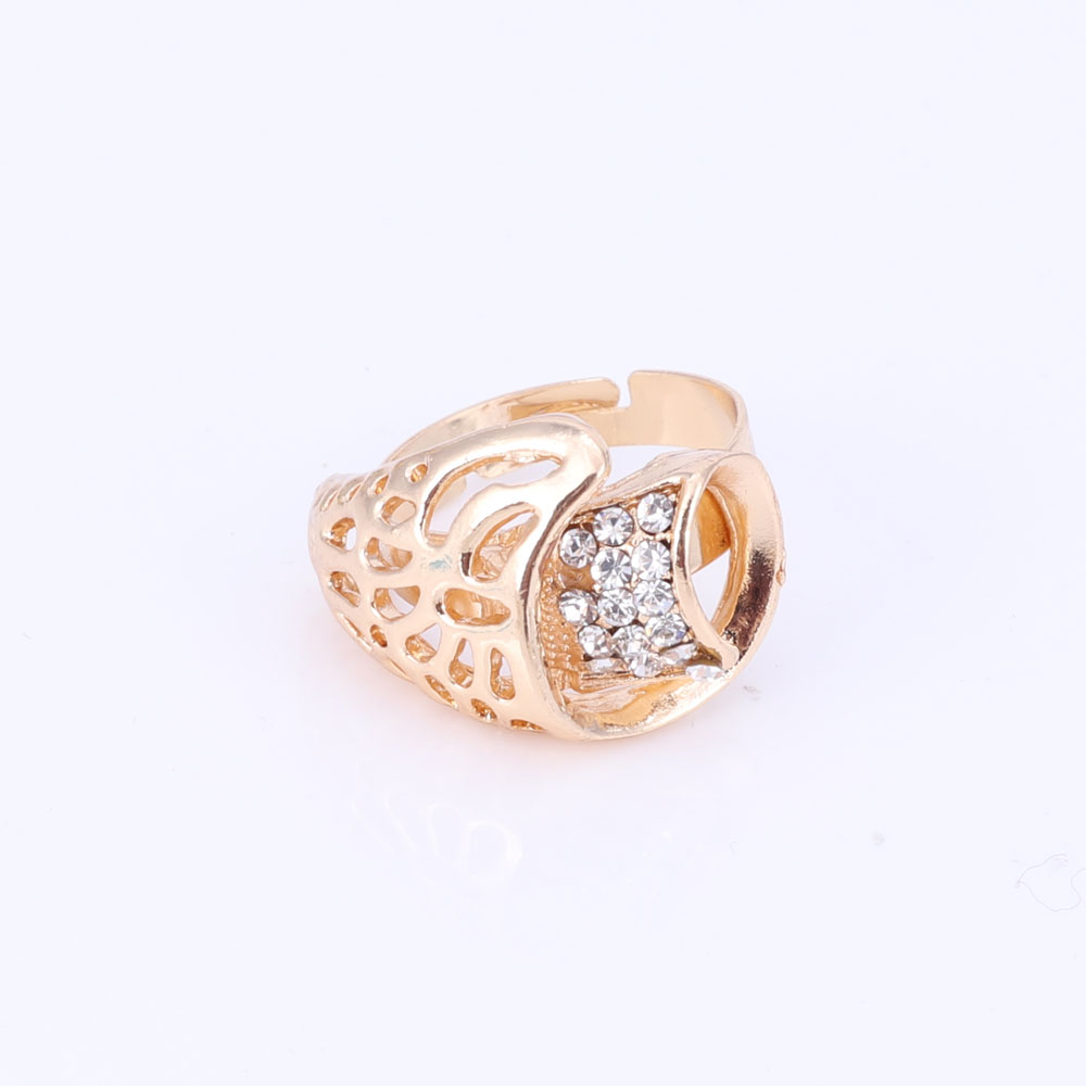 Heißer verkauf dubai kristall strass blume halskette sets gold farbe - Modeschmuck - Foto 6