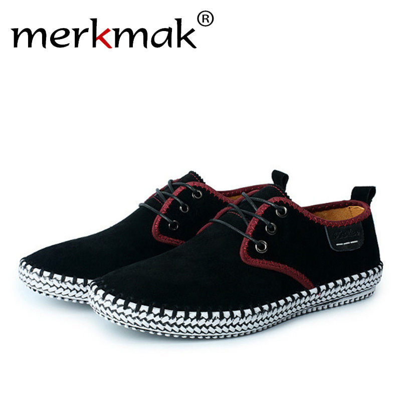 Merkmak Comfort Casual Men Flats Shoes High Quality Suede Man Loafers Summer Autumn Breathable Male Outdoor Footwear Drop ship merkmak spring autumn men shoes casual male genuine leather brand walking driving high quality comfortable footwear man flats