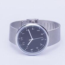 Nouveau design arabe montres en acier inoxydable bandes élégant horloges