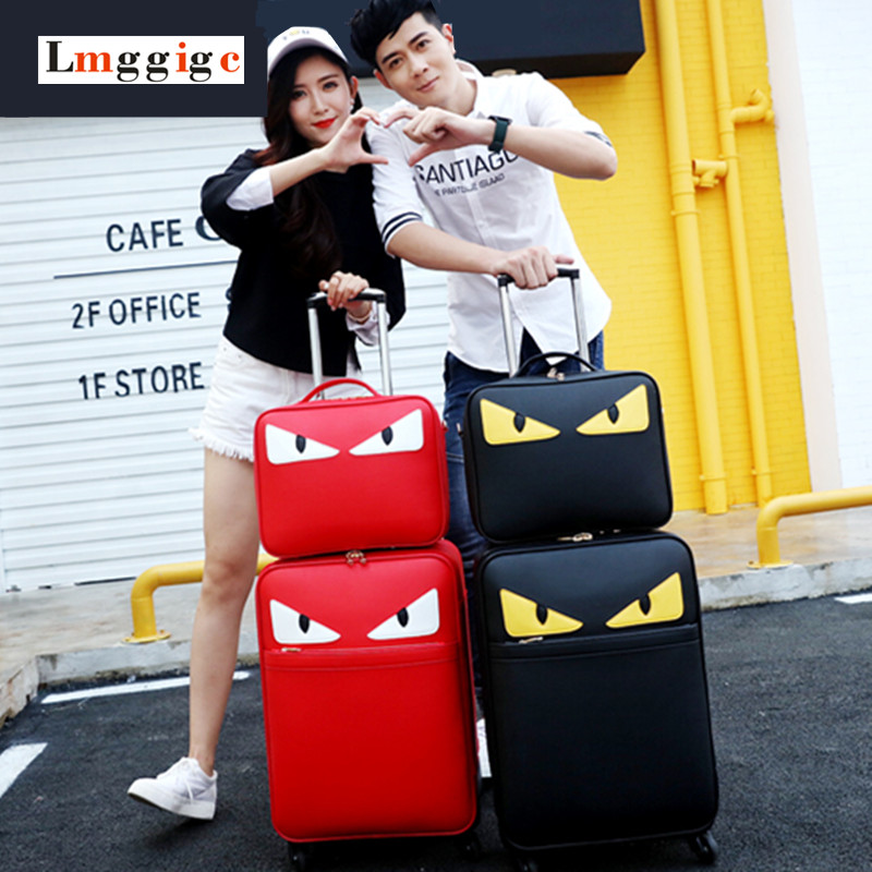 5acd407dcc60 Best Trolley luggage picture box universal wheels small travel bag ...