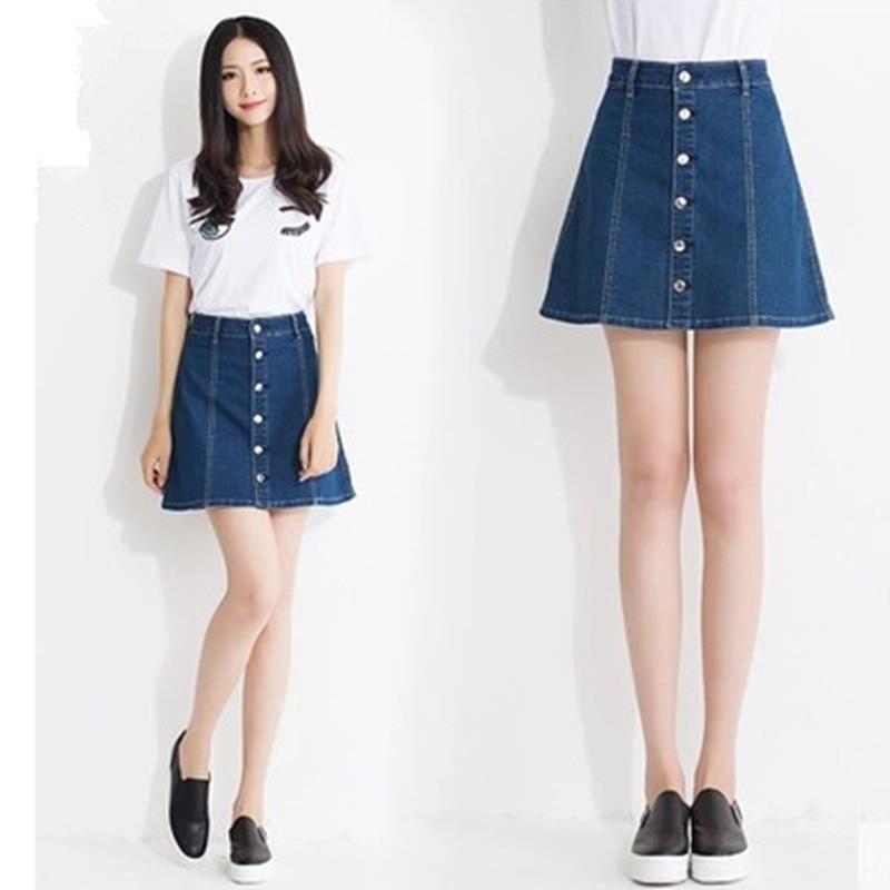 Buy 2017 fashion women denim skirt - Jeans trend 2017 ...
