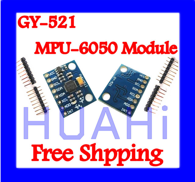 Free SHIPPING 10 PCS GY-521 MPU6050 MPU-6050 Module 3 Axis analog gyro sensors+ 3 Axis Accelerometer Module
