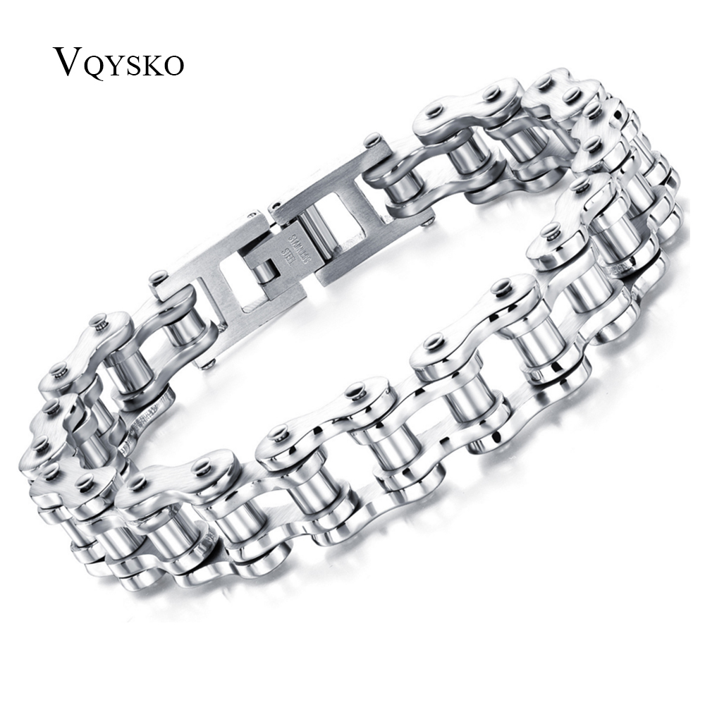 PUNK Biker 316L Stainless Steel Mens Bracelet Fashion Jewelry Bike Bicycle Chain Jewellery pulsera hombre acero inoxidable