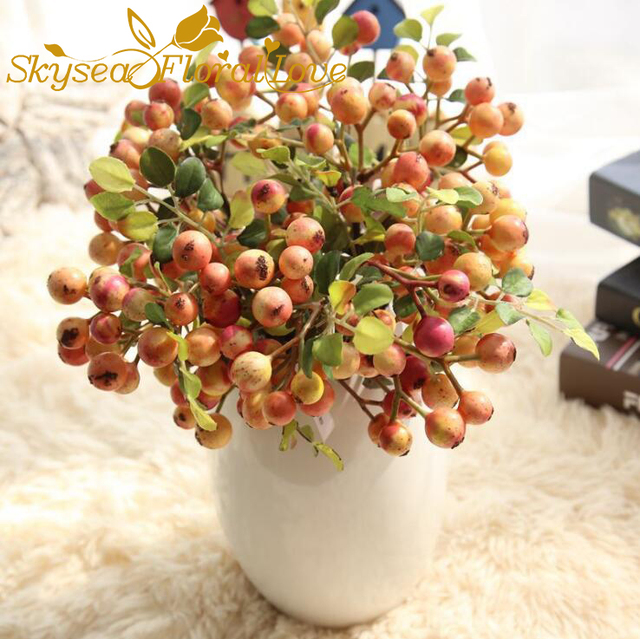 diy artificial berry fruit foam fake plants berry hat shoes candy