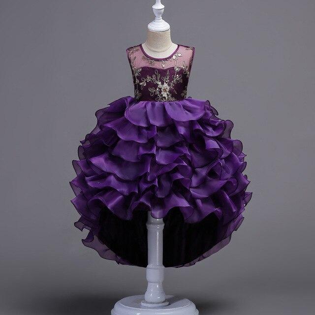 328b4d2222 Ball dress for girls birthday wedding party ruffle sequin bling children  dress kids age 2 3 4 5 6 7 8 9 10 11 12 13 14 15 years