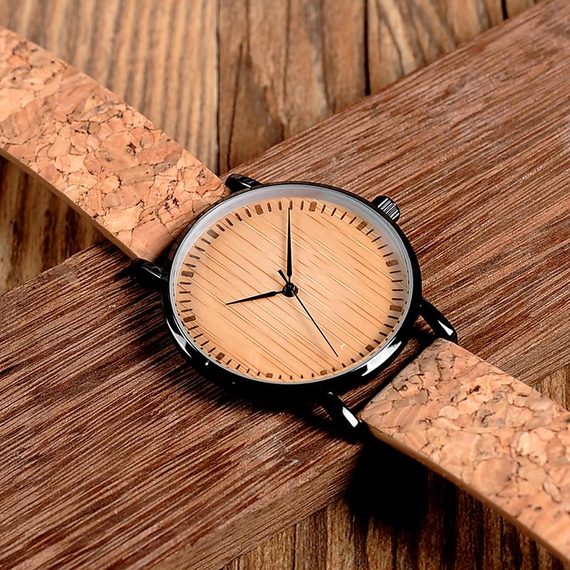Zegarek drewniany Bobo Bird Cork E19 15