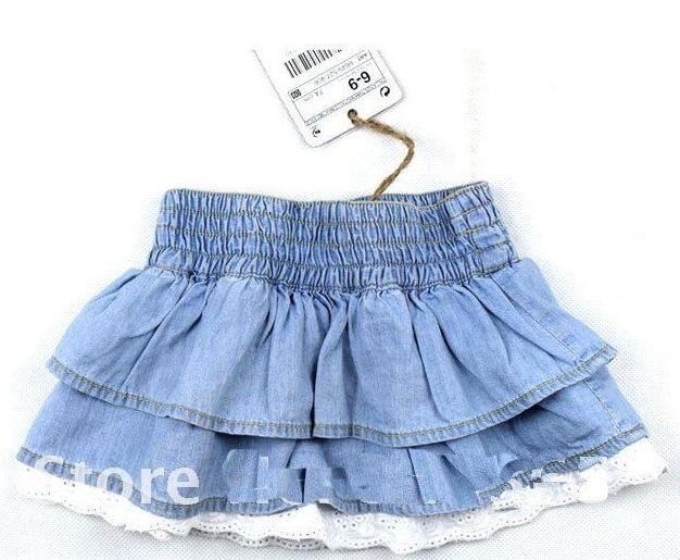 Free shipping! Girls mini skirt, girl miniskirt, baby girl's jean skirt, baby clothes, 5pcs/lot, tutu skirt