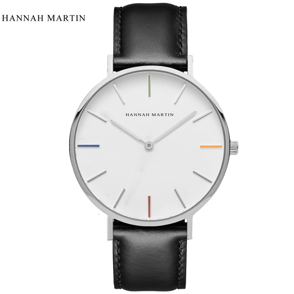 Mens Watches Top Brand Luxury Hannah Martin Watch Fashion Mens Watch Men Watch Leather Clock relogio masculino reloj hombreMens Watches Top Brand Luxury Hannah Martin Watch Fashion Mens Watch Men Watch Leather Clock relogio masculino reloj hombre