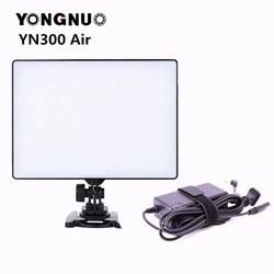 YONGNUO YN300 air Pro LED Camera Video Light video photography Light + AC Power Adapter charger kit For Canon Nikon Camera