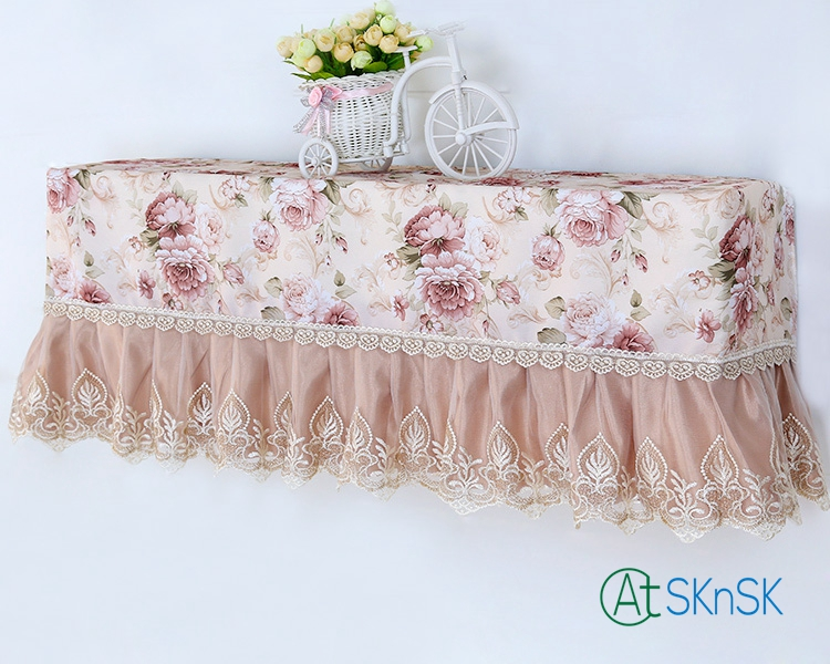 1pcs elegant European style wall mounted air condition home decoration All-inclusive cover lace embroidery dust proof cover