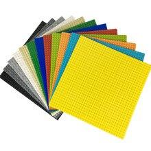 32*32 puntos placa Base para ladrillos pequeños placa Base DIY bloques de construcción de la ciudad piezas LegoINGLs juguetes para los niños
