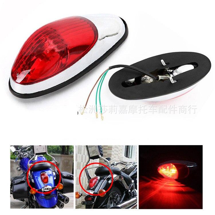 Lentille rouge scooter pièces moto voyant signal marque professionnel moto lumière de frein pour harley 400 moto feu arrière
