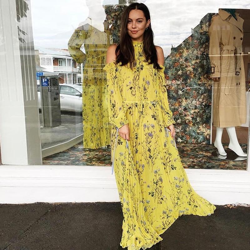 2019 새로운 도착 꽃 프린트 여성 드레스-에서드레스부터 여성 의류 의  그룹 1