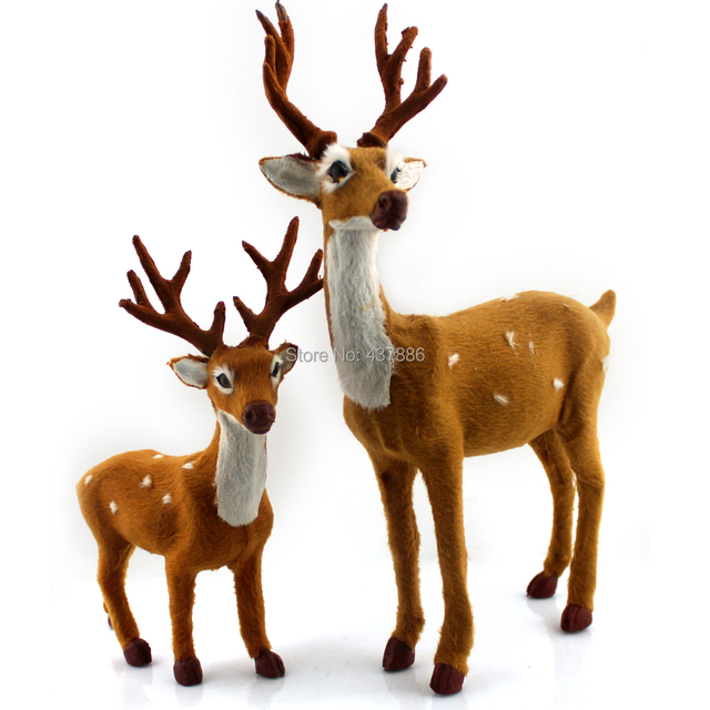christmas decoration deer plush christmas reindeer crafts navidad indoor or outdoor - Indoor Christmas Reindeer Decorations