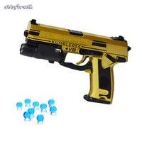 Abbyfrank Golden Infrared Gun Toy Pistol Desert Eagle CS Rifle Paintball Water Bullet Boys Outdoor Game