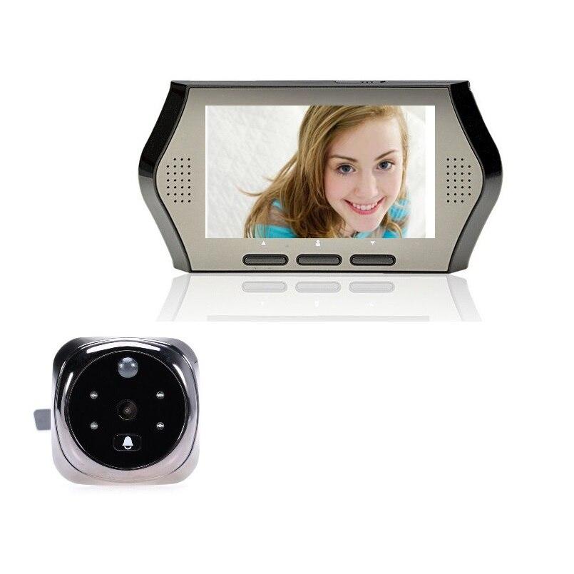 ФОТО Video-Eye door bell 3X Zoom Russian Menu PIR Motion Sensor IR 4 LEDs Night vision 32 Rings 4.3 inch TFT LCD video eye doorbell