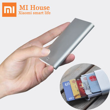 Xiaomi MIIIW כרטיס מקרה אוטומטי לצוץ תיבת כיסוי כרטיס מחזיק Mijia מתכת ארנק מזהה נייד אחסון בנק כרטיס אשראי כרטיס
