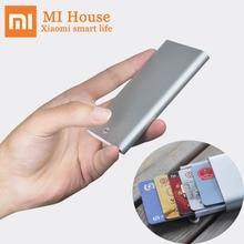 Xiaomi miiiwカードケース自動ポップアップボックスカバーカードホルダーmijia金属財布idポータブル収納銀行カード、クレジットカードカード