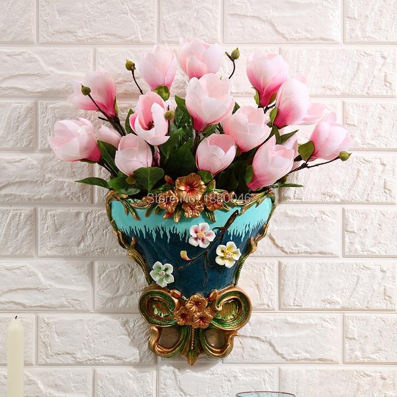 Висячие украшения в европейском стиле, настенные подвесные вазы, стены, цветочные горшки, настенные украшения для гостиной, домашние стены,