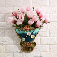 European style hanging ornaments, wall hanging vases, walls, flowerpots, living room wall decorations, home walls, antique penda
