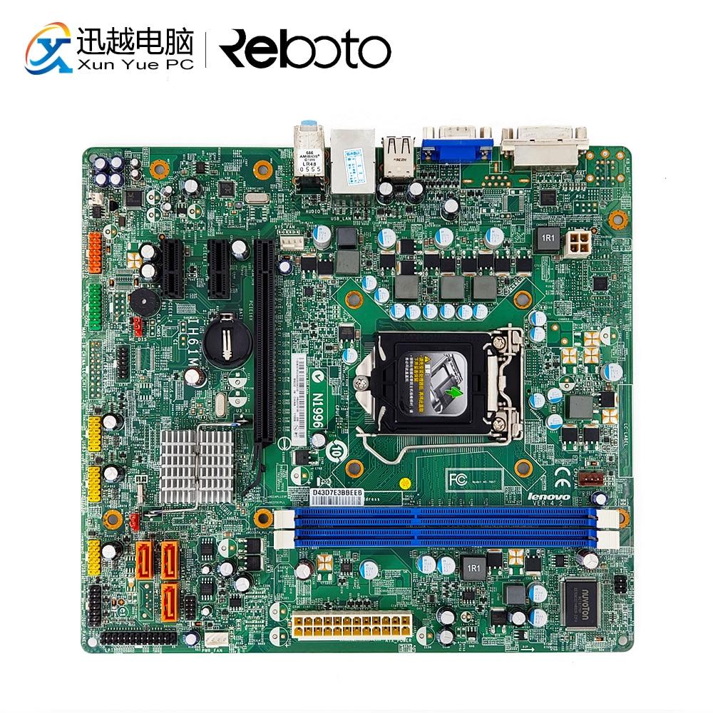 цена For Lenovo IH61M VER4.2 Desktop Motherboard IH61M V4.2 H61 Socket LGA 1155 i3 i5 i7 DDR3 16G DVI VGA Micro ATX