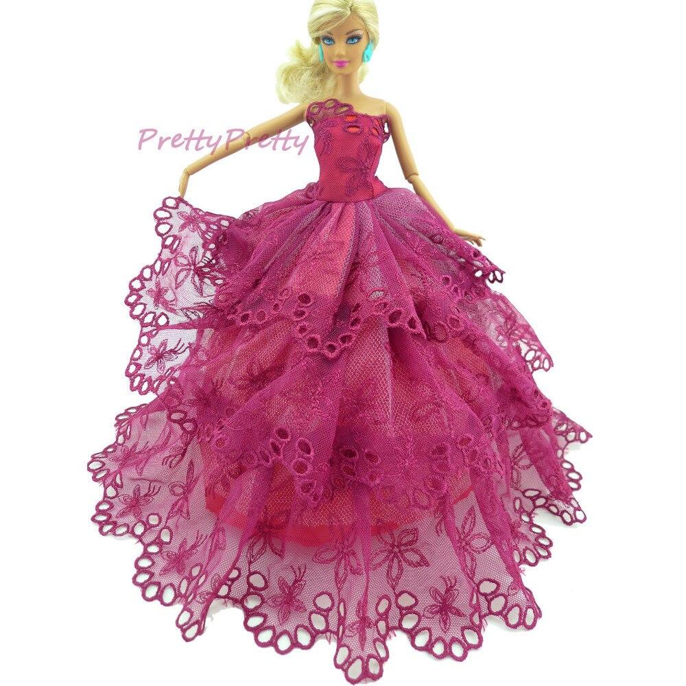 Envío gratis Doll Outfis vestido de boda nupcial Veil y del novio ...