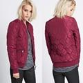 2017 New Khaki Bomber Jacket Padding Warm Jacket and Coats Zipper Wine Red Parkas For Women Big Size XXL