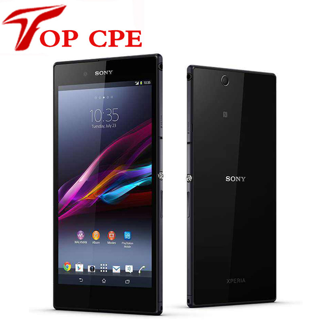 """Sony xperia z ultra abierto original del androide quad-core 2 gb ram xl39h c6802 c6833 gsm 3g y 4g 6.4 """"8MP WIFI GPS 16 GB Teléfono ROM"""