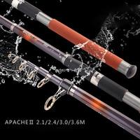 High Carbon Saltwater Rod Superhard Telescopic Fishing Ultra Light Rod Carbon 2.1 3.6M Surf Fishing Rod Spinning Fishing Pole|fishing pole|ultra light rod|fishing rod -