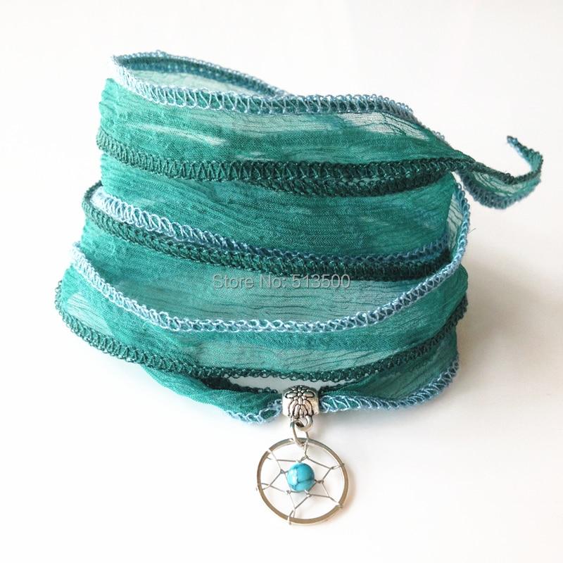 Narukvica od vrpce, svilene narukvice, svilene vrpce, svilene ručne - Modni nakit