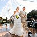 Casamento do Laço do vintage Vestido Sem Alças Em Camadas Bohemian Praia Do Vestido de Casamento 2017 Vestidos de Noiva Longo Vestido De Noiva