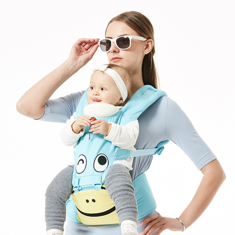 Multi-functional cotton baby Backpacks Carriers cute summer breathable baby waist stool strap portable child stool kids backpack ubela multi function two line baby stool mother strap mint green