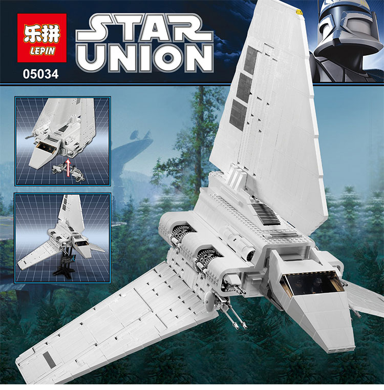 LEPIN 05034 Star Classic toy Wars Stunning The Assemble Shuttle Building Blocks Bricks Assembled Toys Compatible with 10212 Gift 2018 star space warseries shuttle tydirium building blocks bricks assembled toys compatible with lepins gifts