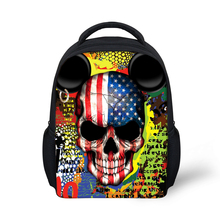 3D Orthopedic School Bags Children Backpack Kids Teenagers Boy Girl Student Punk Cartoon Skull School Bags