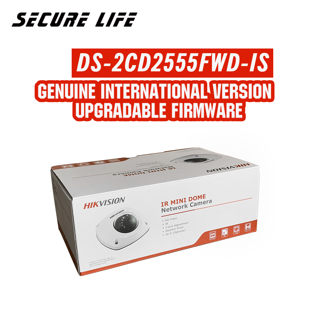 Hikvision DS-2CD2555FWD-IS International version 5MP EXIR Fixed Mini Dome Network cctv IP Camera POE, 10m IR, H.265, IP66 hikvision h 265 5mp ip camera ds 2cd2155f is audio alarm interface dome cctv camera outdoor poe ds 2cd2155f is 30m ir 30pcs lot