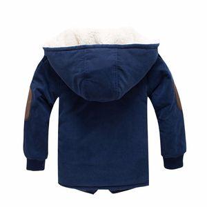 Image 5 - Winter Jacket For Boy Fashion Kids Casual Jackets Boys Cashmere Long Sleeve Hooded Coats Warm Boys Clothing Outwears Jackets