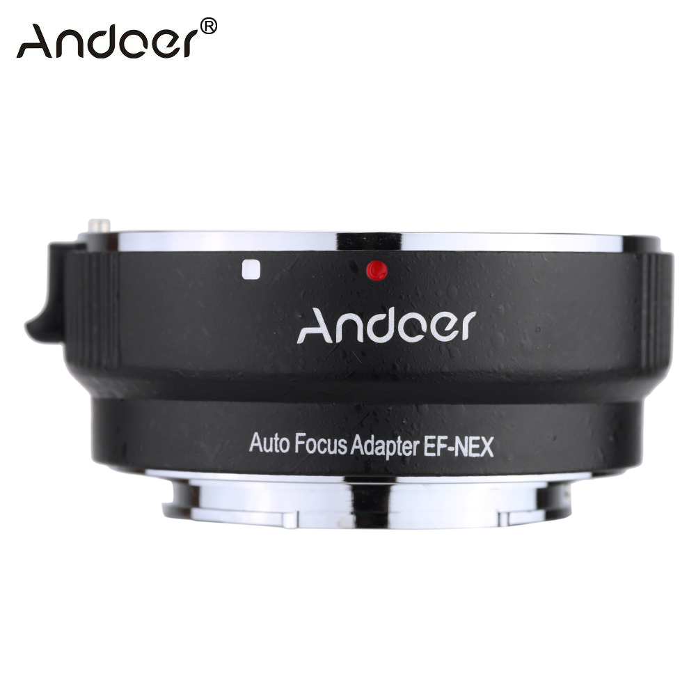 Andoer Anti-Shake Auto Focus AF Lens Adapter Ring For Canon EF EF-S Lens To Use For Sony NEX E Mount Camera Full Frame