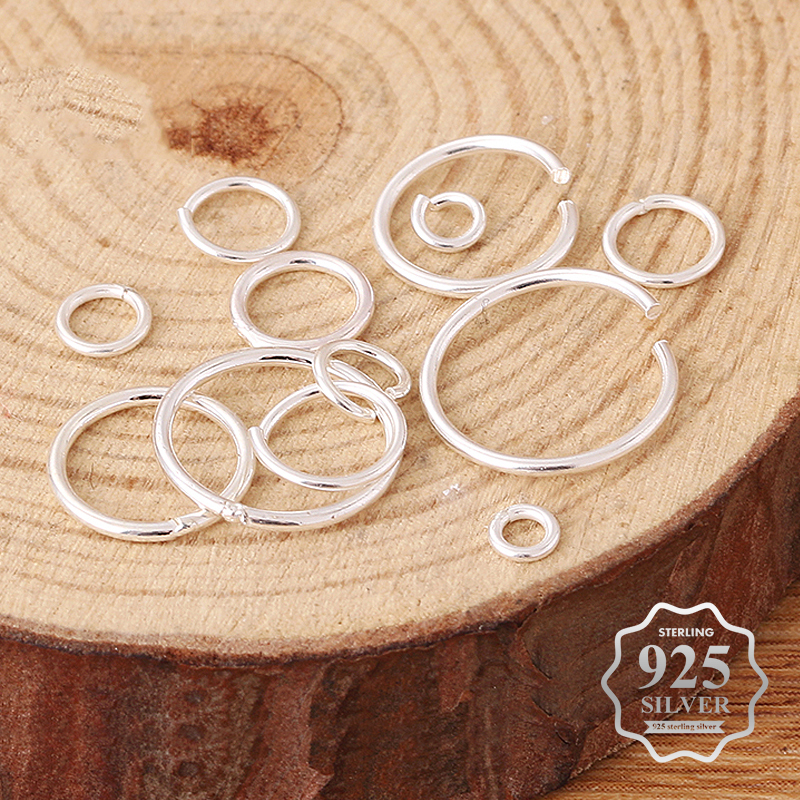 10pcs/lot 925 sterling silver Open Jump Rings Direct 3/4/5/6/8/10mm Split Rings Connectors for DIY Ewelry Findings Making image