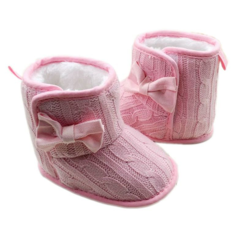 Baby-Girl-Shoes-Knit-Bowknot-Faux-Fleece-Snow-Boot-Soft-Sole-Kids-Wool-Baby-Booties-3-18M-1