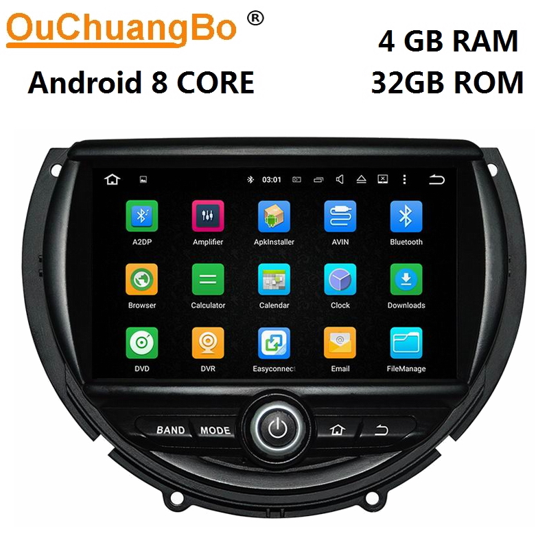 Ouchuangbo android 8.0 car audio gps navigation radio recorder for mini F55 F56 2014-2016 with 8 core 4GB+32GB