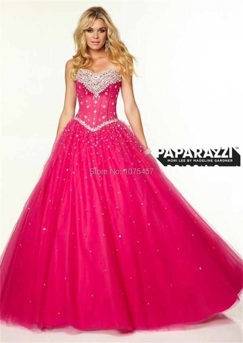 Pink Princess Taffeta Ball Dresses